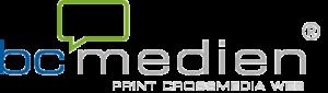 Print, Crossmedia, Web by bc medien ag Logo